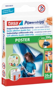 58003 tesa powerstrips poster 20er pack eichhorn os. Black Bedroom Furniture Sets. Home Design Ideas