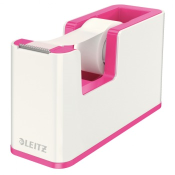 Leitz WOW Klebeband-Tischabroller Duo Colour Pink