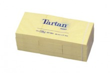 005138 Tartan Notes gelb 51 x 38 mm, 12er Pack