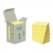 3M6531B Post-it© Recycling Notes Mini Tower, 6er Pack, gelb, 51 x 38 mm, 100 Blatt/Block