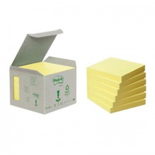 3M6541B Post-it© Recycling Notes Mini Tower, 6er Pack, gelb, 76 x 76 mm, 100 Blatt/Block
