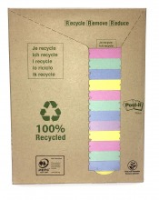 3M655-1RPT Post-it© Recycling Notes Tower, 16er Pack, 127 x 76 mm, 100 Blatt/Block